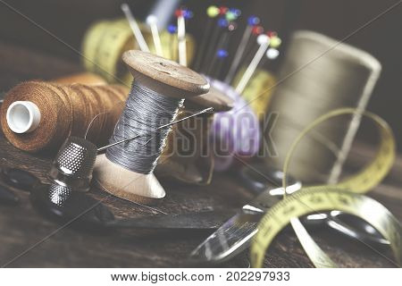 Sewing Instruments, Threads, Needles, Bobbins And Materials.