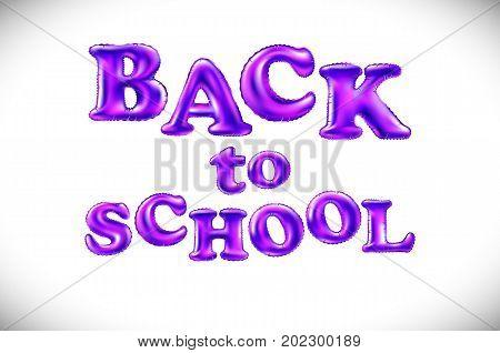 Phrase Back To School On White Background. Lettering. Color Art. Handwritten Symbol For T-shirt Desi