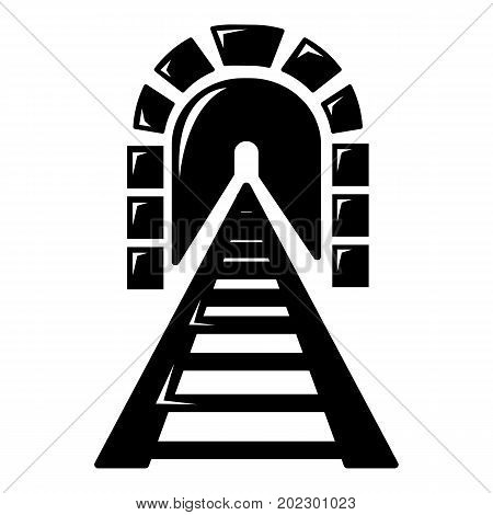 Railway tunnel icon . Simple illustration of railway tunnel vector icon for web design isolated on white background