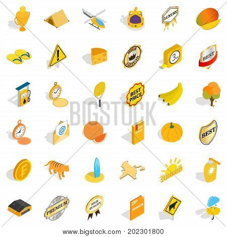 Helicopter icons set. Isometric style of 36 helicopter vector icons for web isolated on white background