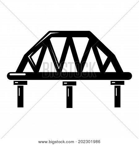 Arched train bridge icon . Simple illustration of arched train bridge vector icon for web design isolated on white background