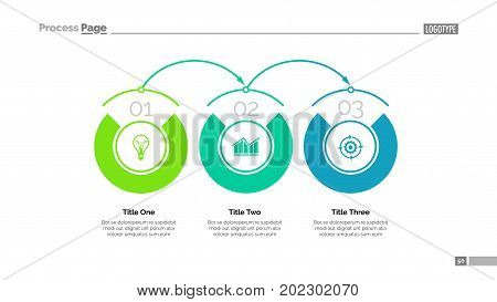 Business timeline slide template. Business data. Graph, diagram, design. Creative concept for infographic, project. Can be used for topics like business, strategic planning, life cycle