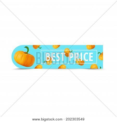 Sale Promotion Web Banner With Autumn Background. Promo Fall Season Discount Label Or Tag Layout Wit