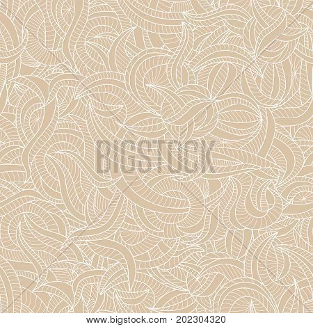 Delicate seamless pattern with the various curves