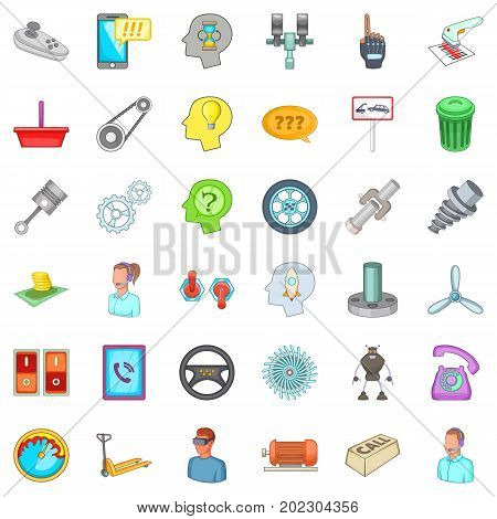 Car garage icons set. Cartoon style of 36 car garage vector icons for web isolated on white background