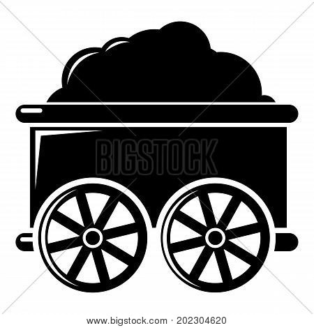 Train wagon icon . Simple illustration of train wagon vector icon for web design isolated on white background