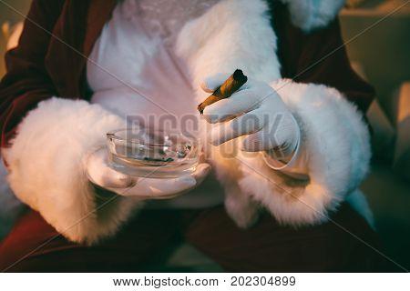 Santa Claus With Cigar