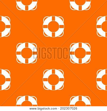 Lifeline pattern repeat seamless in orange color for any design. Vector geometric illustration