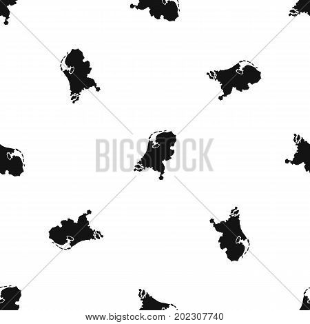 Holland map pattern repeat seamless in black color for any design. Vector geometric illustration