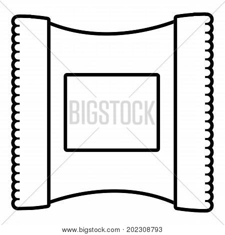 Wet wipes package icon. Outline illustration of wet wipes package vector icon for web design isolated on white background