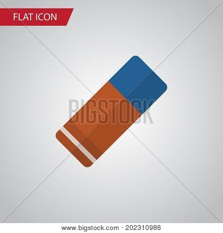 Rubber Vector Element Can Be Used For Rubber, Eraser, Delete Design Concept.  Isolated Eraser Flat Icon.