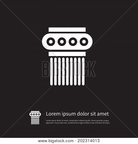 Sculpture Vector Element Can Be Used For Sculpture, Ornate, Pedestal Design Concept.  Isolated Pedestal Icon.