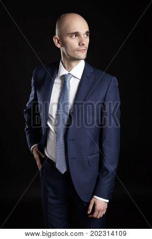 Man Looking Left