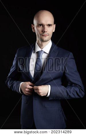 Man Fastens His Jacket