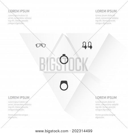Icon Instrument Set Of Eye-Wear, Engagement, Circle And Other Vector Objects