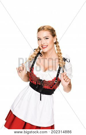 German Girl In Traditional Outfit