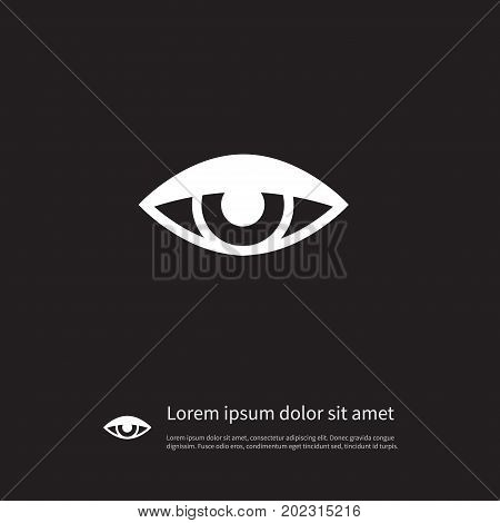 Vision Vector Element Can Be Used For See, Eye, Vision Design Concept.  Isolated See Icon.