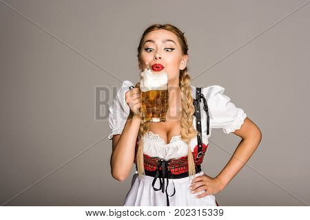 Attractive Girl With Beer
