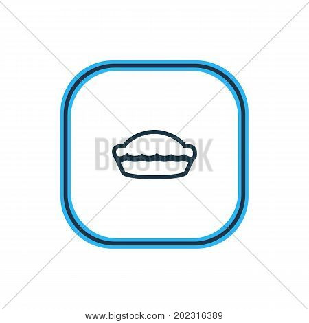 Beautiful Meal Element Also Can Be Used As Flan  Element.  Vector Illustration Of Pie Outline.