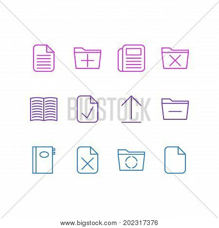 Editable Pack Of Delete, Done, Remove And Other Elements.  Vector Illustration Of 12 Workplace Icons.