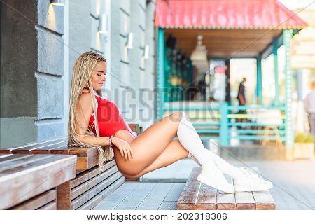 Fitness Model Posing