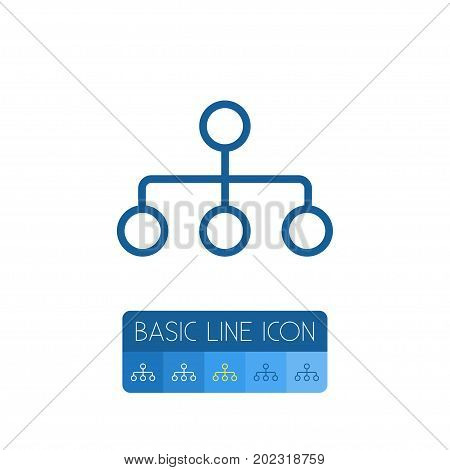 Hierarchy Vector Element Can Be Used For Hierarchy, Structure, Model Design Concept.  Isolated Structure Outline.