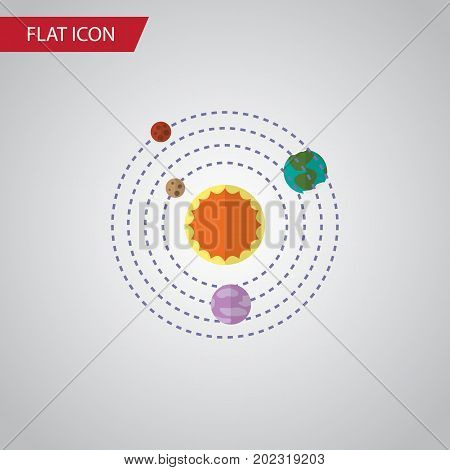 Milky Way Vector Element Can Be Used For Solar, System, Planets Design Concept.  Isolated Solar System Flat Icon.