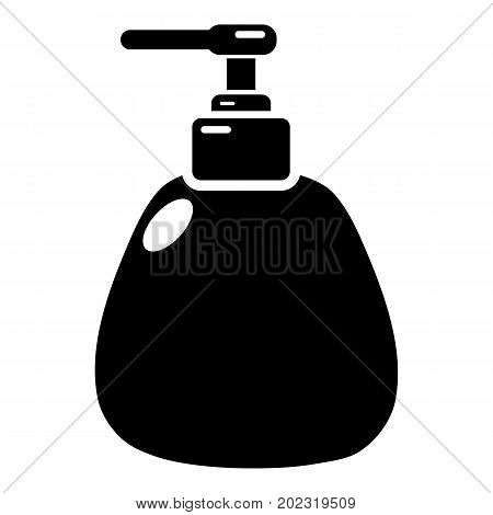 Dispenser pump cosmetic icon . Simple illustration of dispenser pump cosmetic vector icon for web design isolated on white background