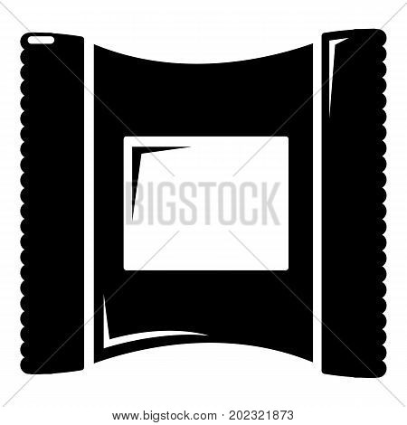 Wet wipes package icon . Simple illustration of wet wipes package vector icon for web design isolated on white background