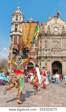 Feast Day  Of The Virgin Of  Guadalupe In Mexico City