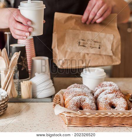 Doughnut Store Counter