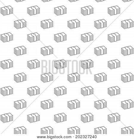 Unique digital money, cash, currency, dollars seamless pattern with various icons and symbols on white background flat vector illustration