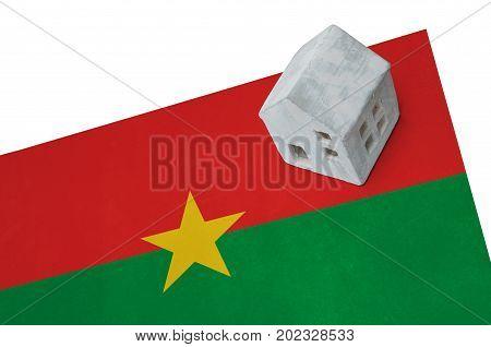 Small House On A Flag - Burkina Faso