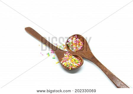 Sugar sprinkle isolated on withe background,decoration for cake and bakery.r sprinkle.