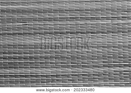 Gray Color Straw Mat Surface.