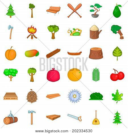 Bonsai icons set. Cartoon style of 36 bonsai vector icons for web isolated on white background