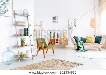 Colorful Living Room With Pineapples