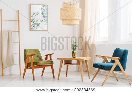 Simple Living Room With Pineapple