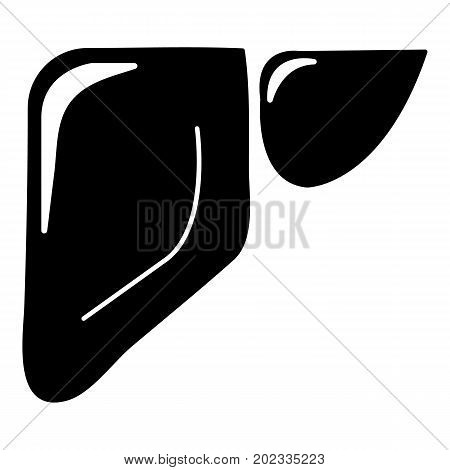 Liver icon . Simple illustration of liver vector icon for web design isolated on white background
