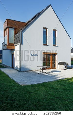 Family House With Paved Patio