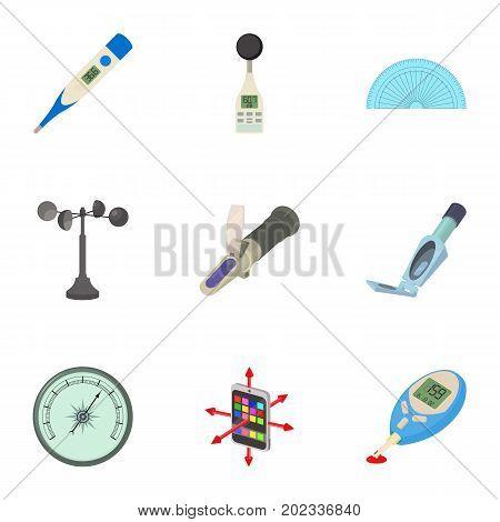 Technology instrument icons set. Cartoon set of 9 technology instrument vector icons for web isolated on white background