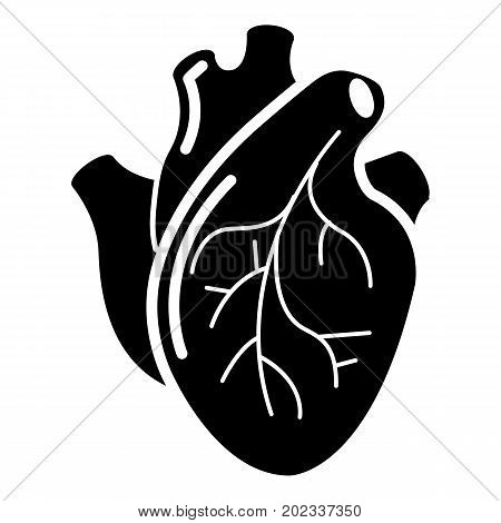 Human heart organ icon . Simple illustration of human heart organ vector icon for web design isolated on white background