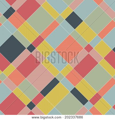 Graphic Seamless Pattern. Colorful Abstract Plaid.