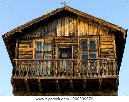 Old fishermen's house background, blue, board, building,