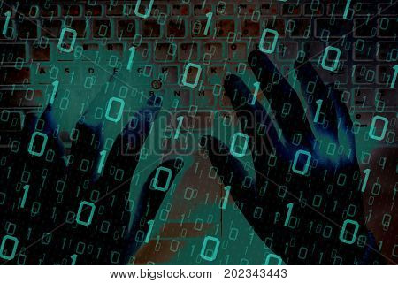 Cyber Space Security Concept. Hacker Attacking On The Computer Network Or Cyberspace Or Business To