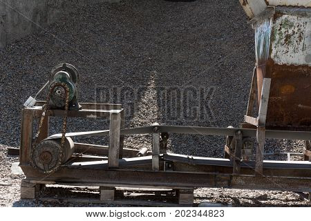 Aggregate Sifting And Packaging At An Concrete Manufacturing Plant