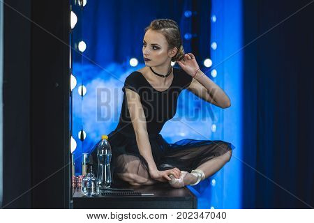 Ballerina In Dressing Room