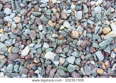 Close Up Of Crushed Rock For Railway Ballast Background Texture