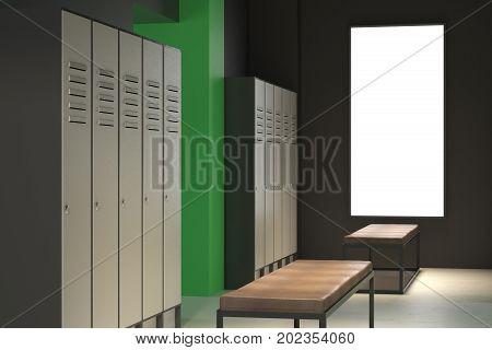 Clean Green Locker Room