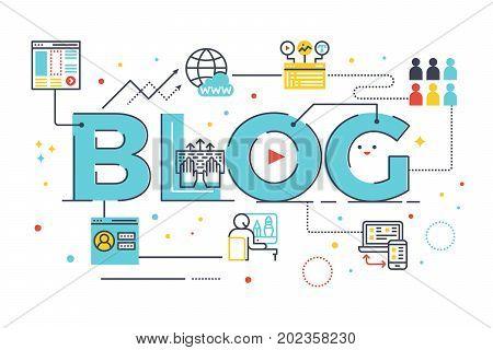Blog Word Lettering